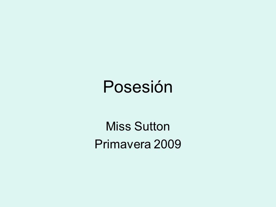 Posesión Miss Sutton Primavera 2009