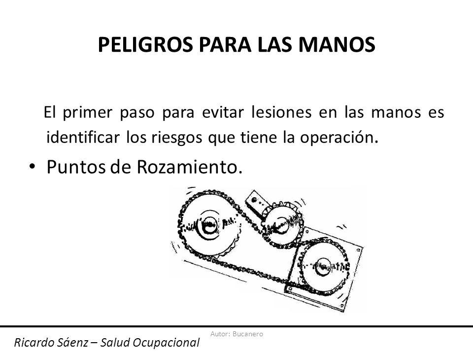 Autor: Bucanero PELIGROS PARA LAS MANOS Puntos Calientes. Ricardo Sáenz – Salud Ocupacional