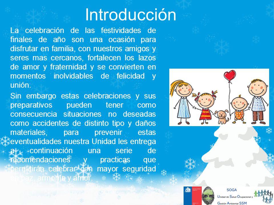 Introducción La celebración de las festividades de finales de año son una ocasión para disfrutar en familia, con nuestros amigos y seres mas cercanos,