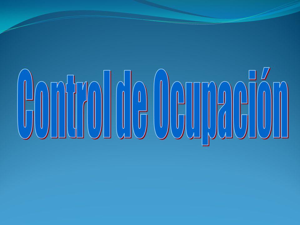 CONCEPTO El control de ocupación es la responsabilidad que concentra los procedimientos que hace posible mantener la información del estado de las habitaciones.