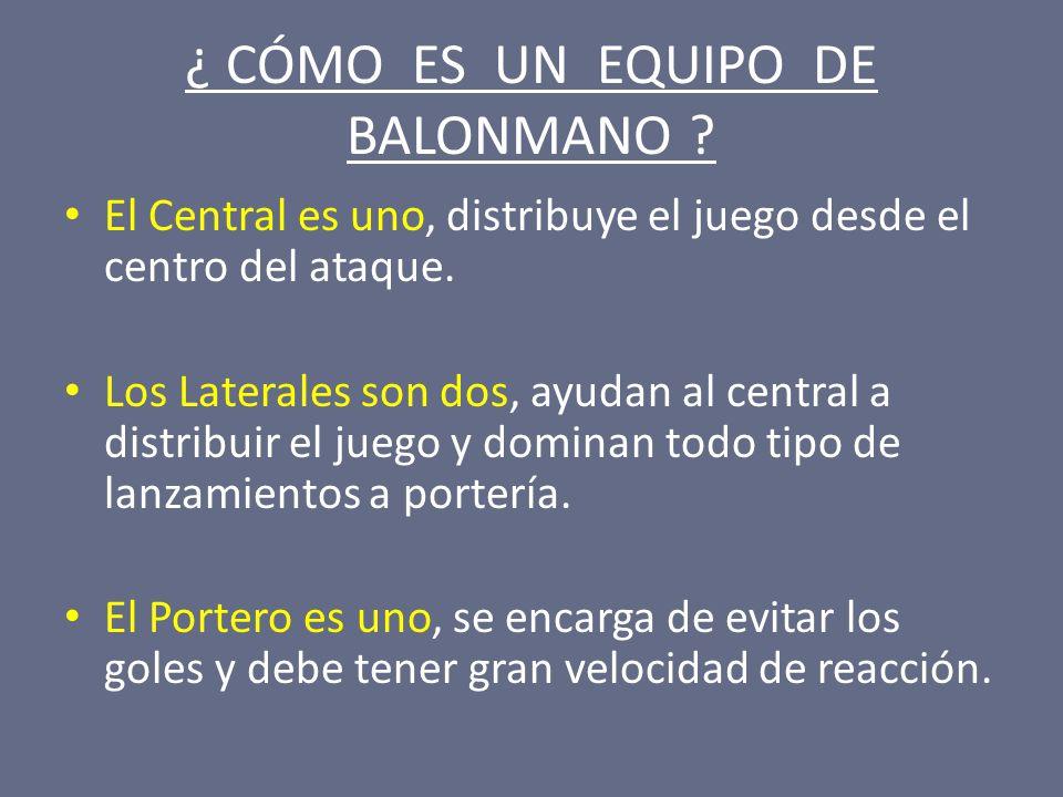 ¿ CÓMO SE DEBE COGER EL BALÓN.