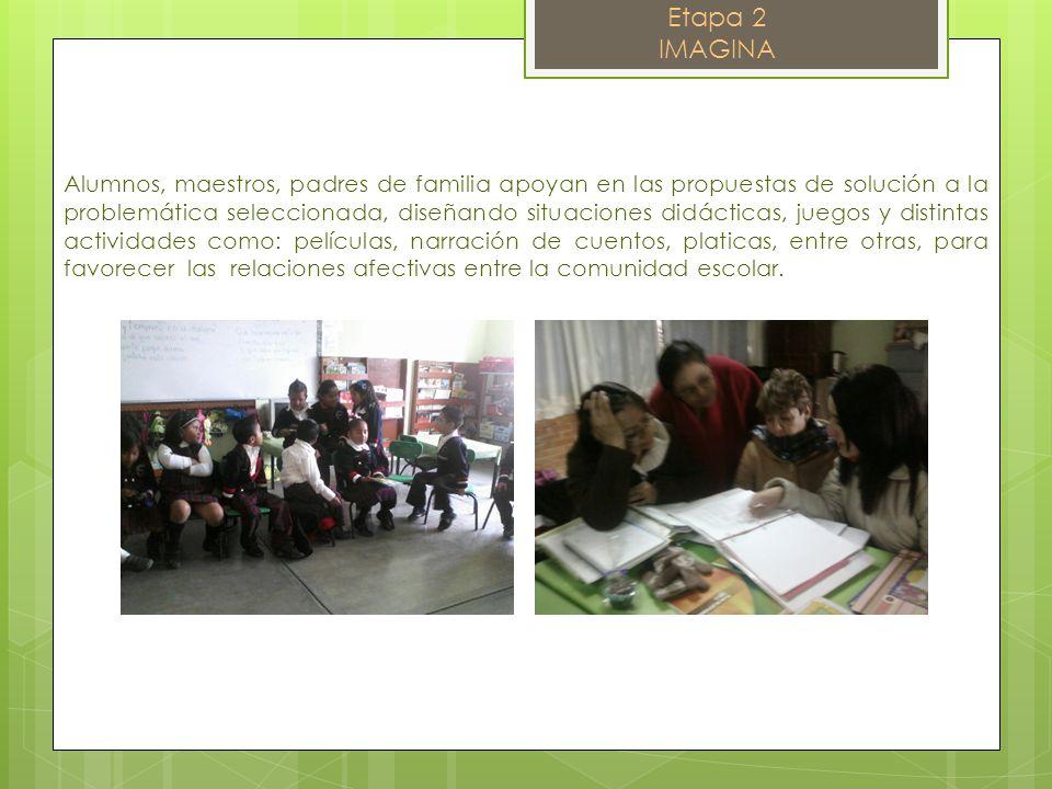 Alumnos, maestros, padres de familia apoyan en las propuestas de solución a la problemática seleccionada, diseñando situaciones didácticas, juegos y d