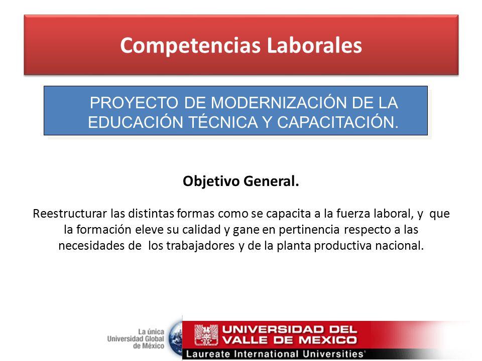 Competencias Laborales PROYECTO DE MODERNIZACIÓN DE LA EDUCACIÓN TÉCNICA Y CAPACITACIÓN.