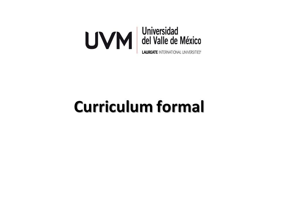 Curriculum formal