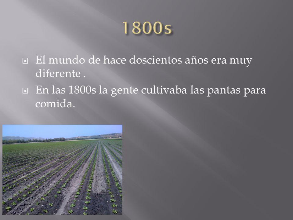  El mundo de hace doscientos años era muy diferente.