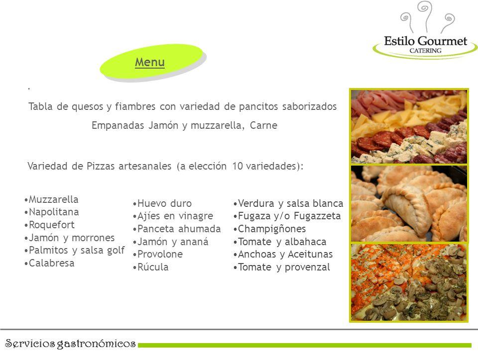 Servicios gastronómicos.