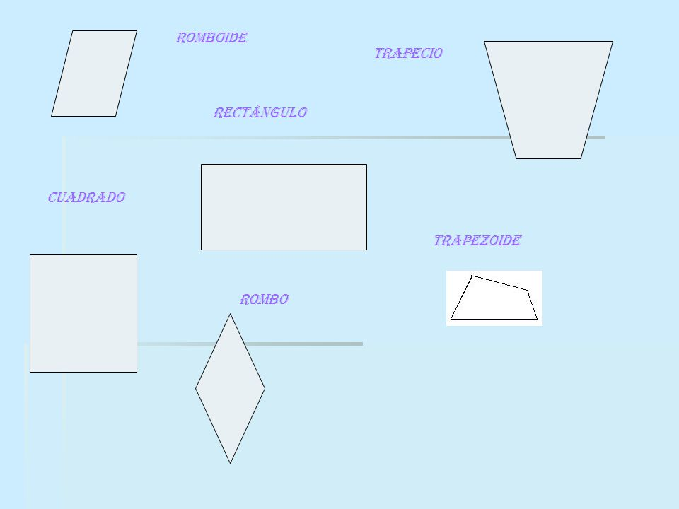 CUADRADO rectángulo rombo romboide trapecio TRAPEZOIDE