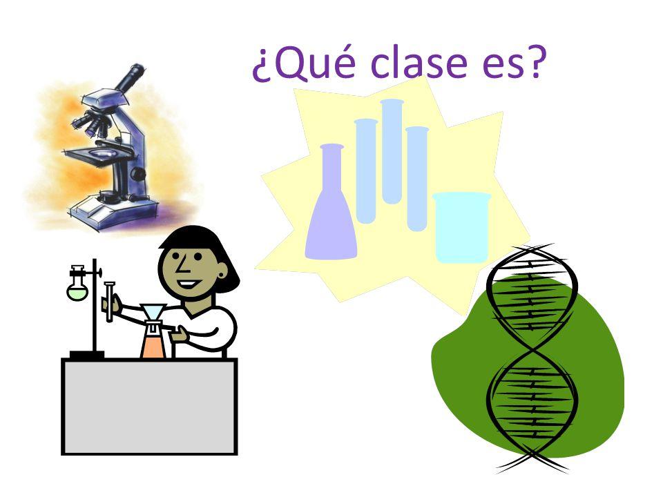 Es biología. Es la clase de ciencias.