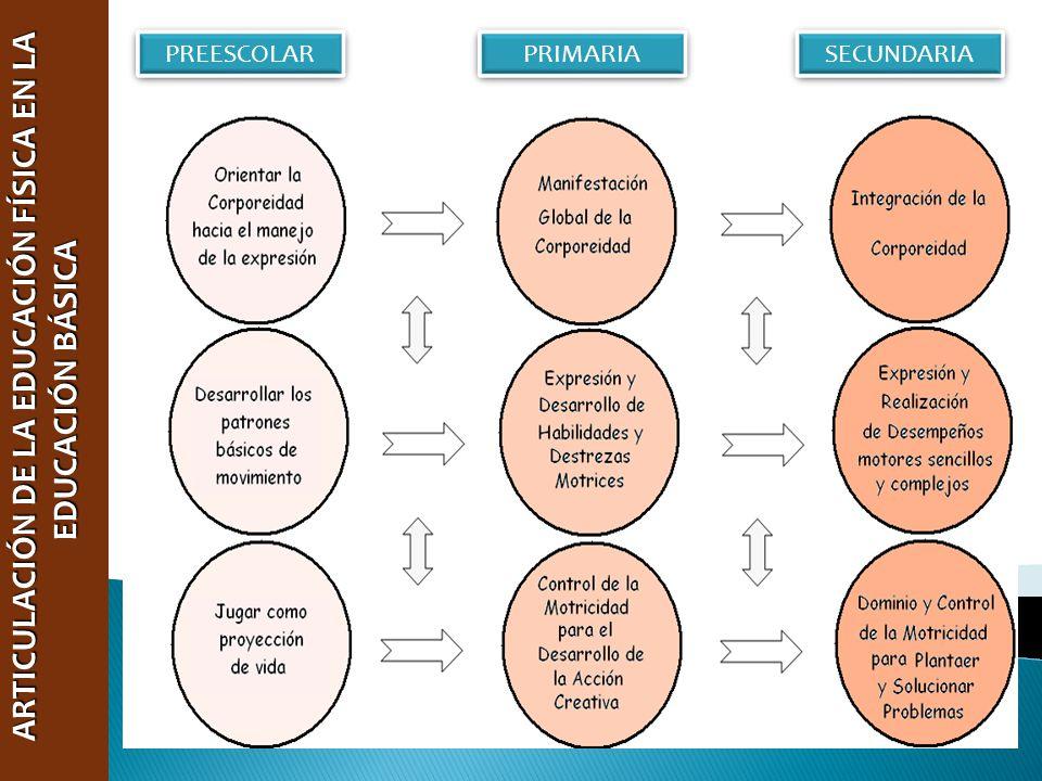 ARTICULACIÓN DE LA EDUCACIÓN FÍSICA EN LA EDUCACIÓN BÁSICA ARTICULACIÓN DE LA EDUCACIÓN FÍSICA EN LA EDUCACIÓN BÁSICA PREESCOLAR PRIMARIA SECUNDARIA