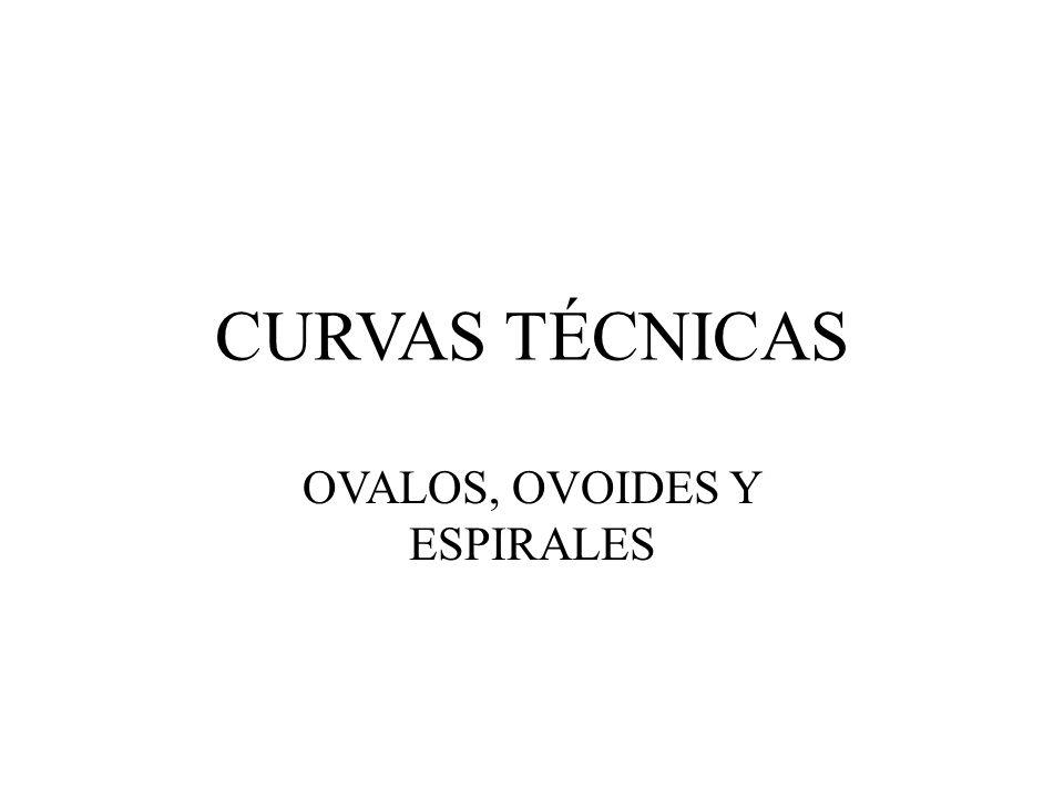 CURVAS TÉCNICAS OVALOS, OVOIDES Y ESPIRALES