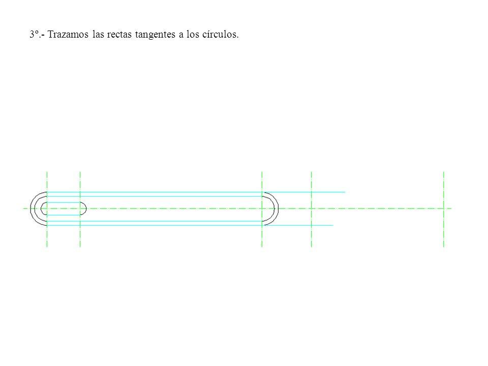 3º.- Trazamos las rectas tangentes a los círculos.