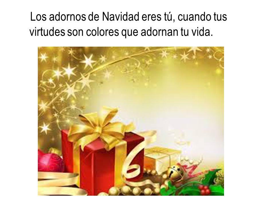 Tú eres sonrisa de confianza y de ternura, en la paz interior de una Navidad perenne que establece el Reino dentro de ti.