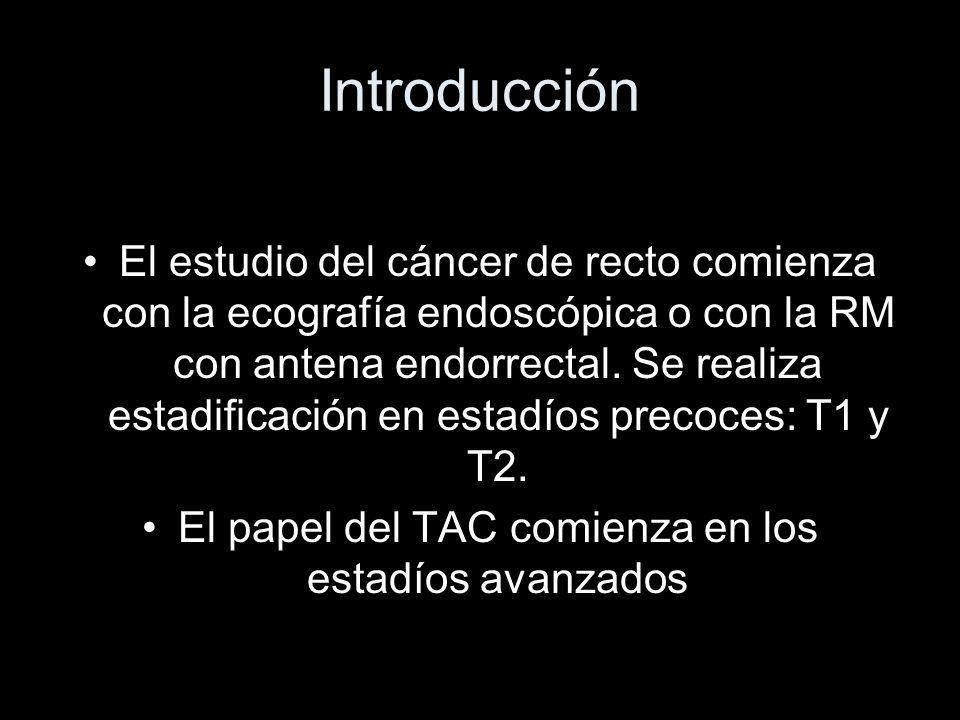 Introducción El estudio del cáncer de recto comienza con la ecografía endoscópica o con la RM con antena endorrectal.