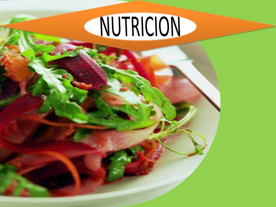 NUTRICION La nutrición es el proceso biológico en el que los organismos asimilan los alimentos y los líquidos necesarios para el funcionamiento, el crecimiento y el mantenimiento de sus funciones vitales