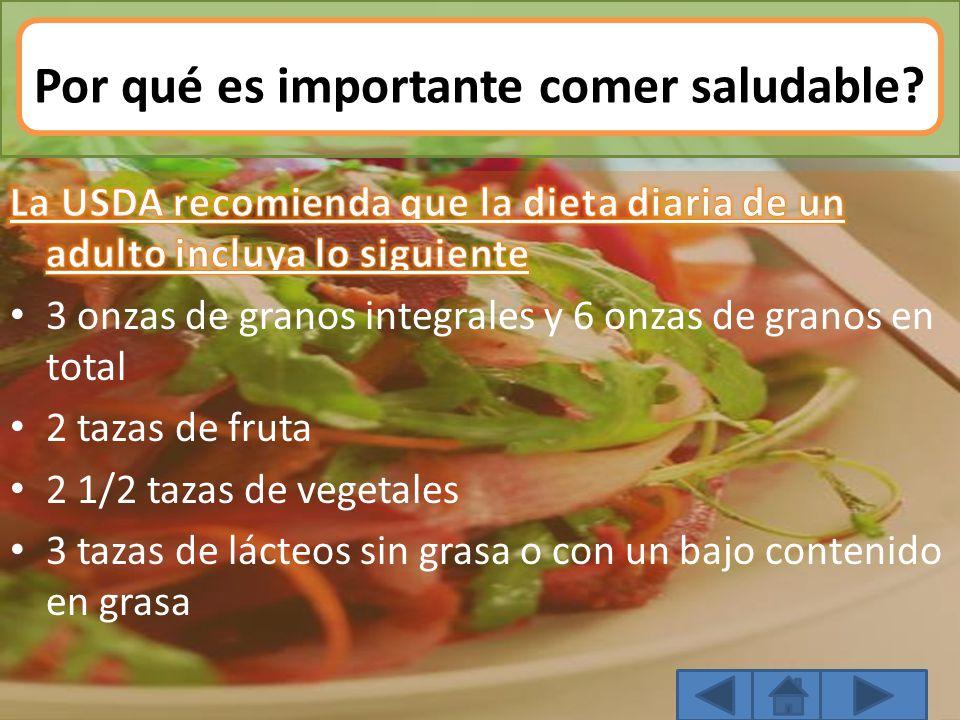 Por qué es importante comer saludable?