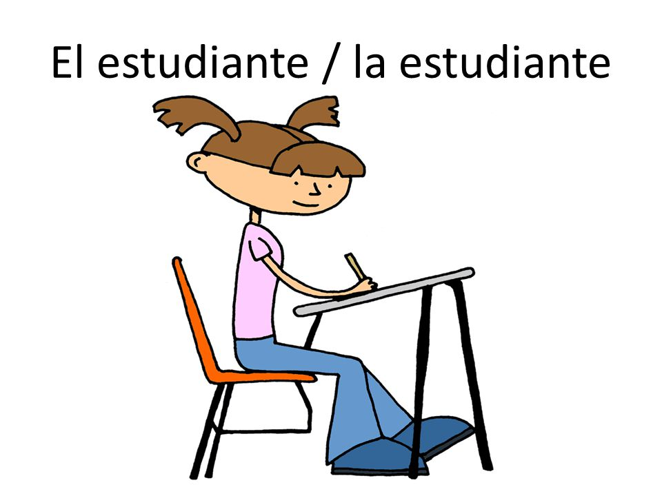 El estudiante / la estudiante
