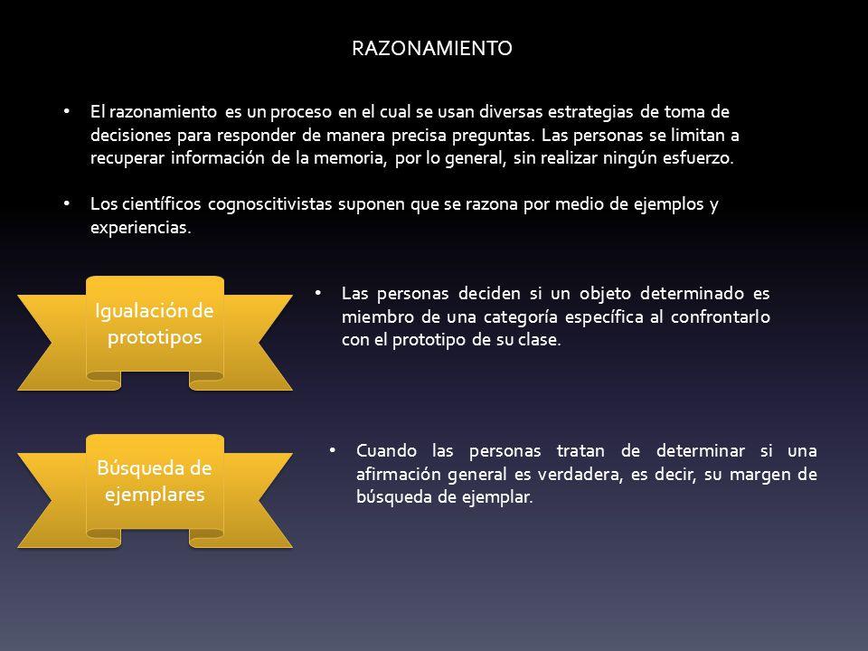 estrategias para el razonamiento:
