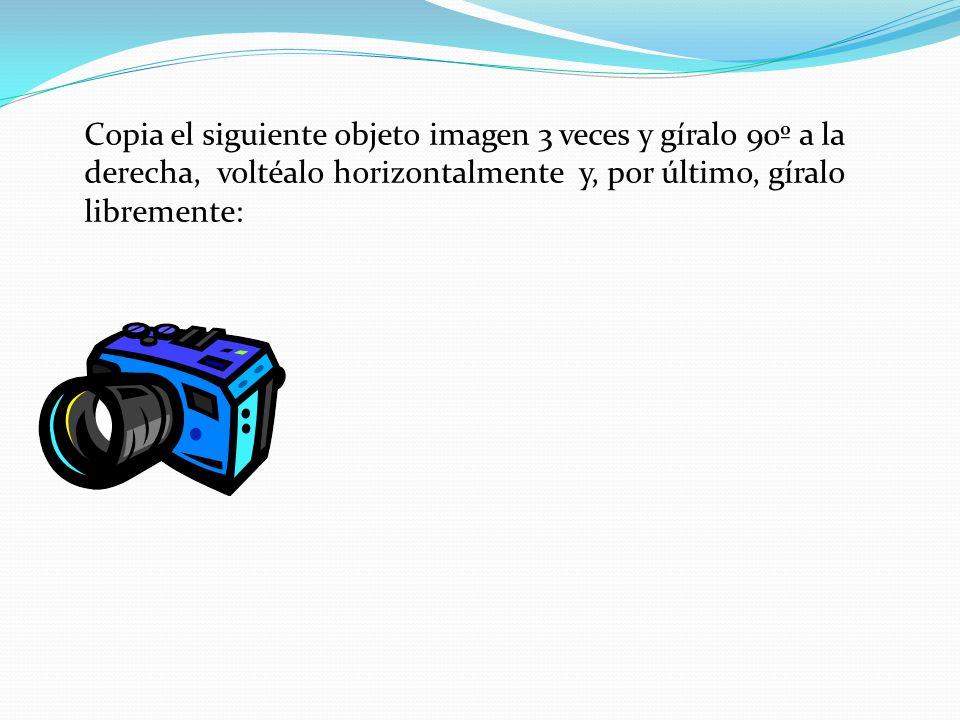 Ordena estos dos objetos de forma que el texto quede delante de la imagen: BARCO