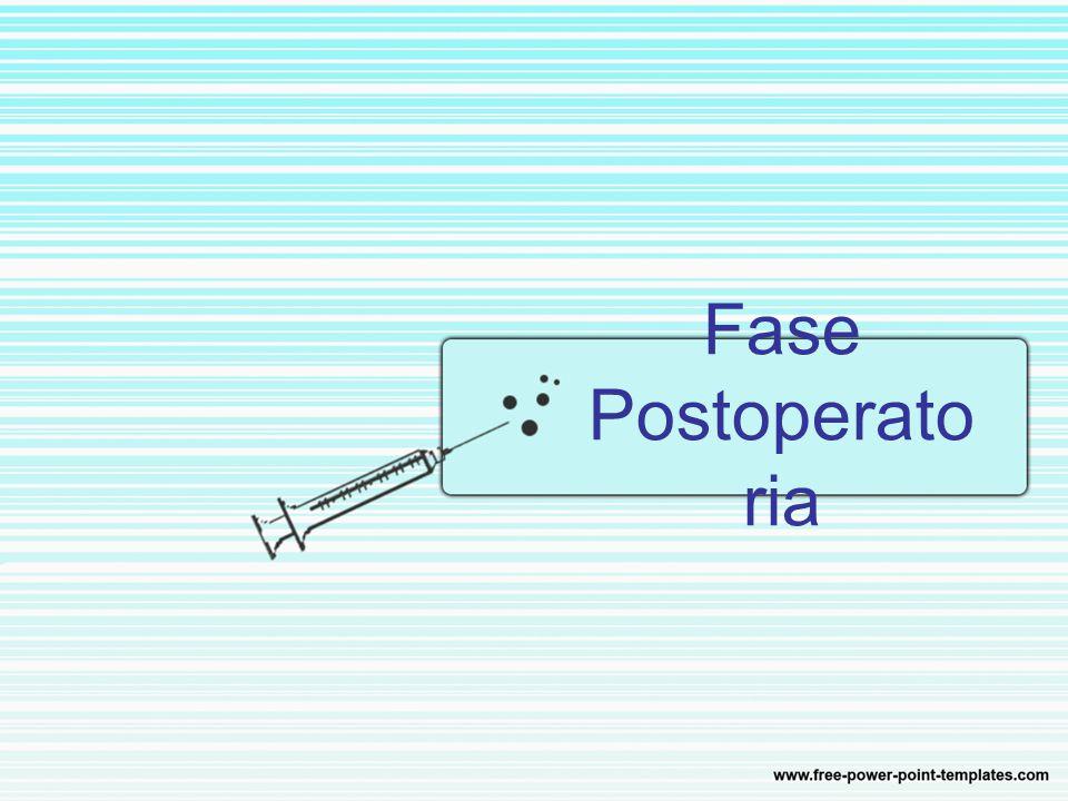Fase Postoperato ria