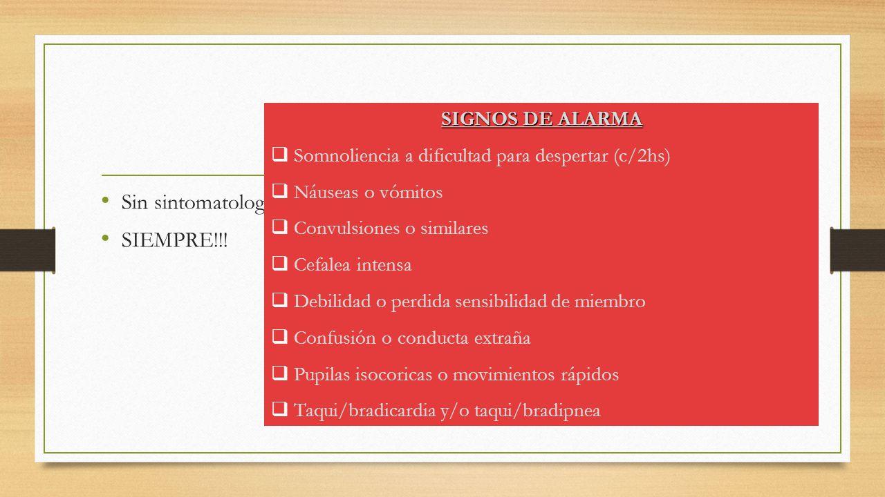 Egreso sanatorial Sin sintomatología neurológica.SIEMPRE!!.