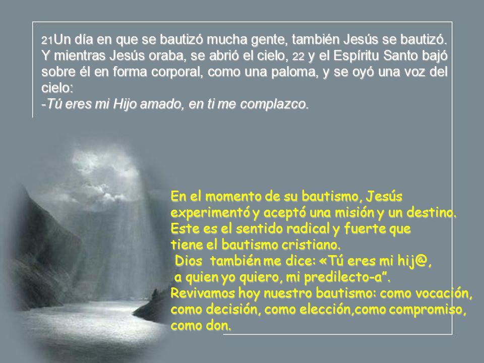 Por el Bautismo se empieza una vida nueva, la vida de la fe, la vida ...