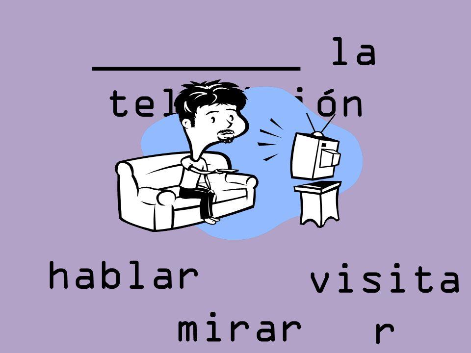 ________ la televisión visita r mirar hablar