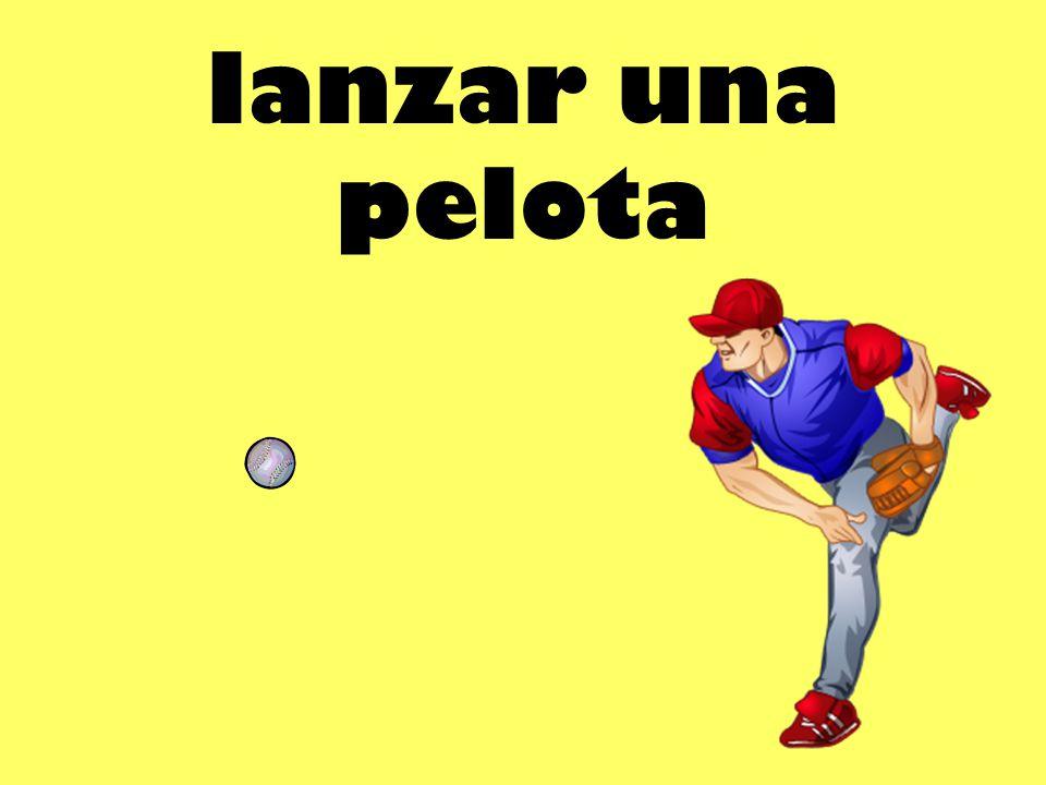 lanzar una pelota