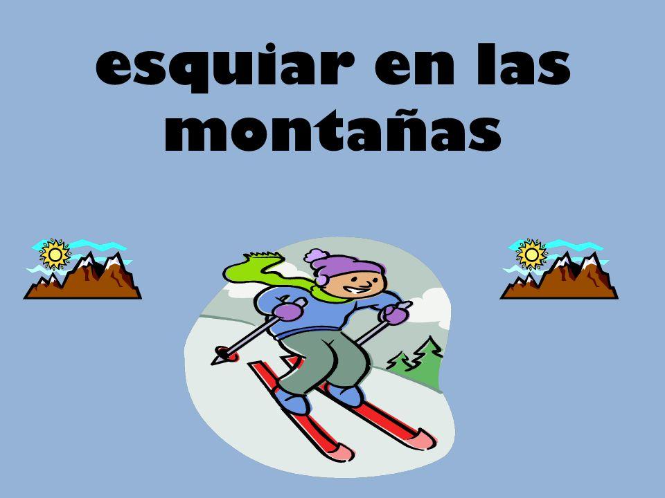 esquiar en las montañas
