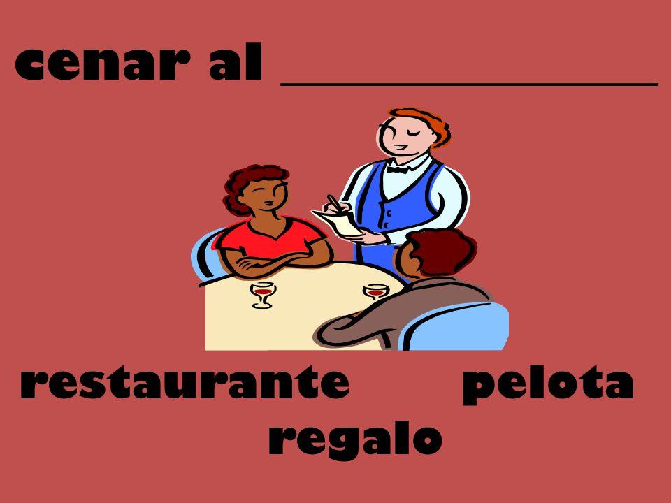 cenar al _______________ pelotarestaurante regalo