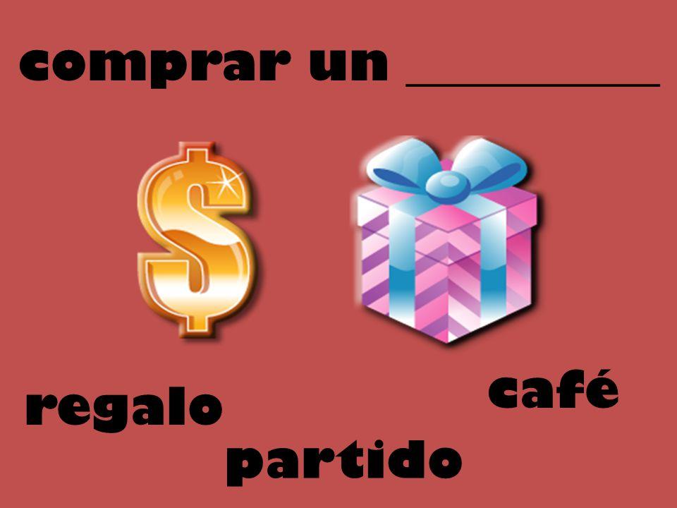 comprar un __________ regalo partido café