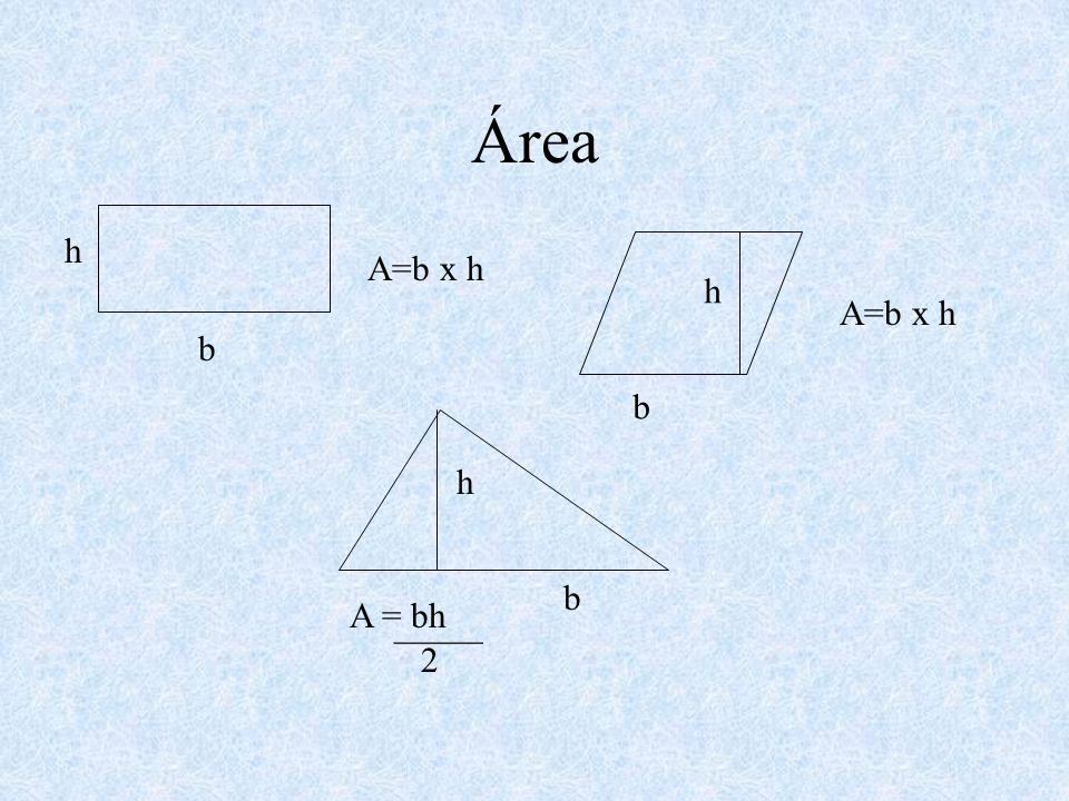 Perímetro L1 L2 L3 P= L1+L2+L3