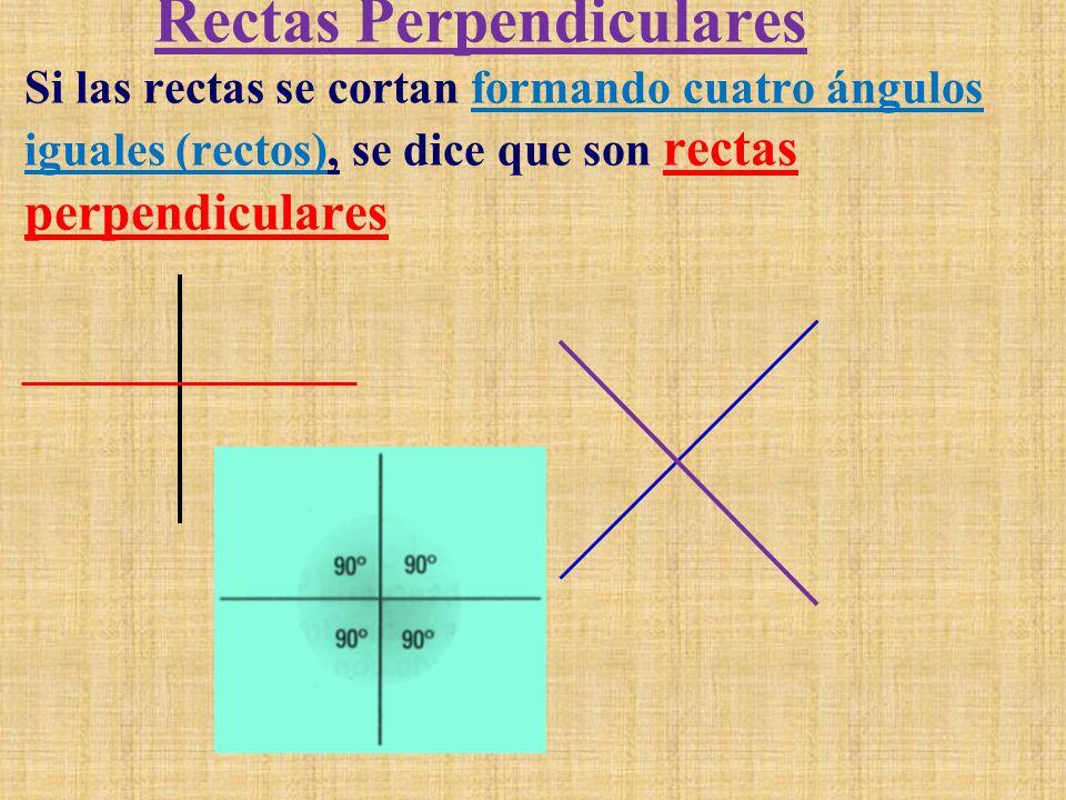 Rectas Paralelas Dos rectas que no se cruzan en ningún punto del plano reciben el nombre de rectas paralelas.