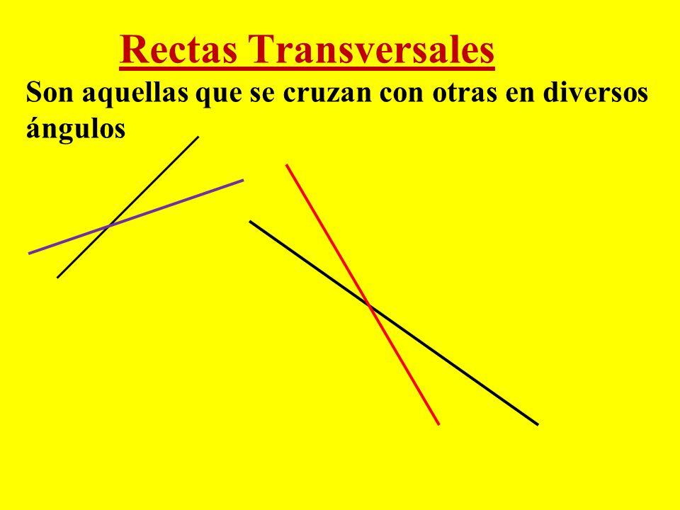 Rectas Perpendiculares Si las rectas se cortan formando cuatro ángulos iguales (rectos), se dice que son rectas perpendiculares