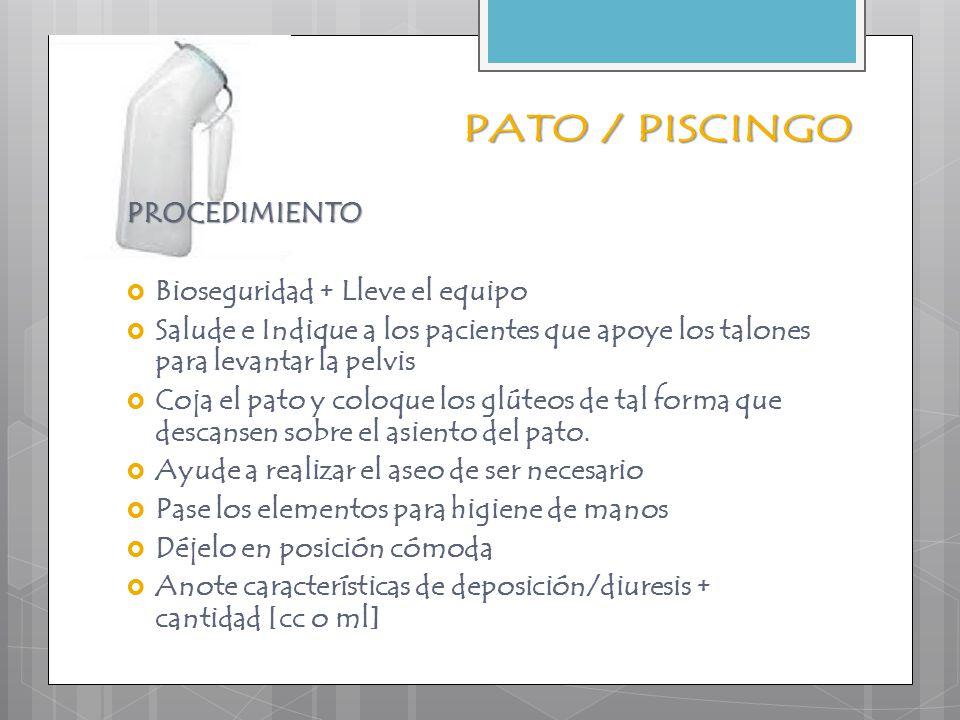 PAÑAL  Deposición y diuresis  Además alistar bioseguridad, papel o toallita.