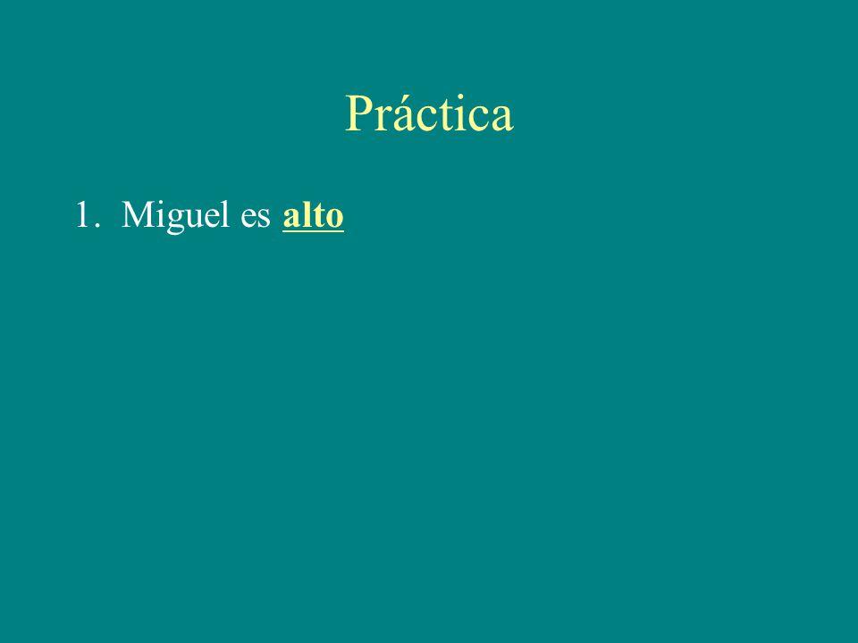 Práctica 1. Miguel es alto