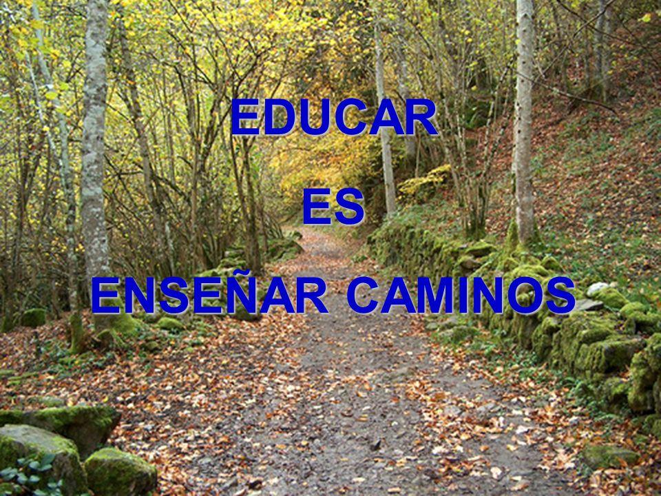 EDUCAR ES ENSEÑAR CAMINOS