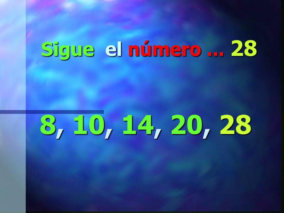 Ahora fijate en este patrón… 8, 10, 14, 20, __