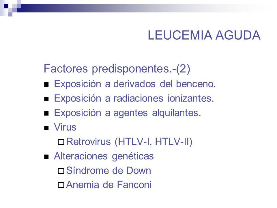 leucemia factores: