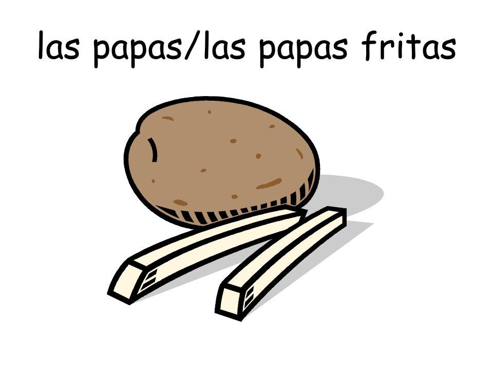 las papas/las papas fritas