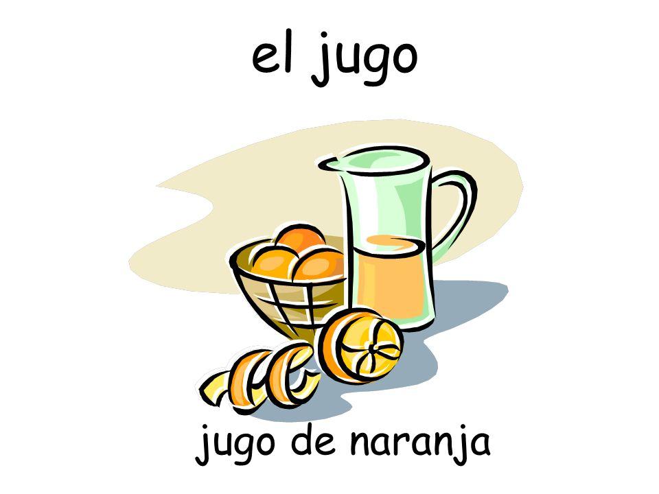 el jugo jugo de naranja