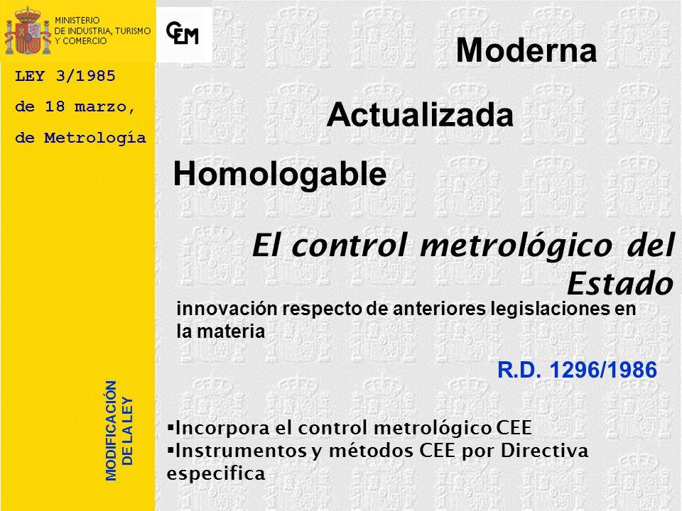 ley 3 1985 metrologia: