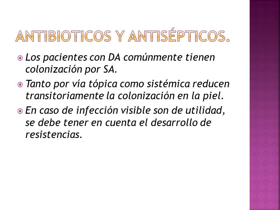  Los pacientes con DA comúnmente tienen colonización por SA.