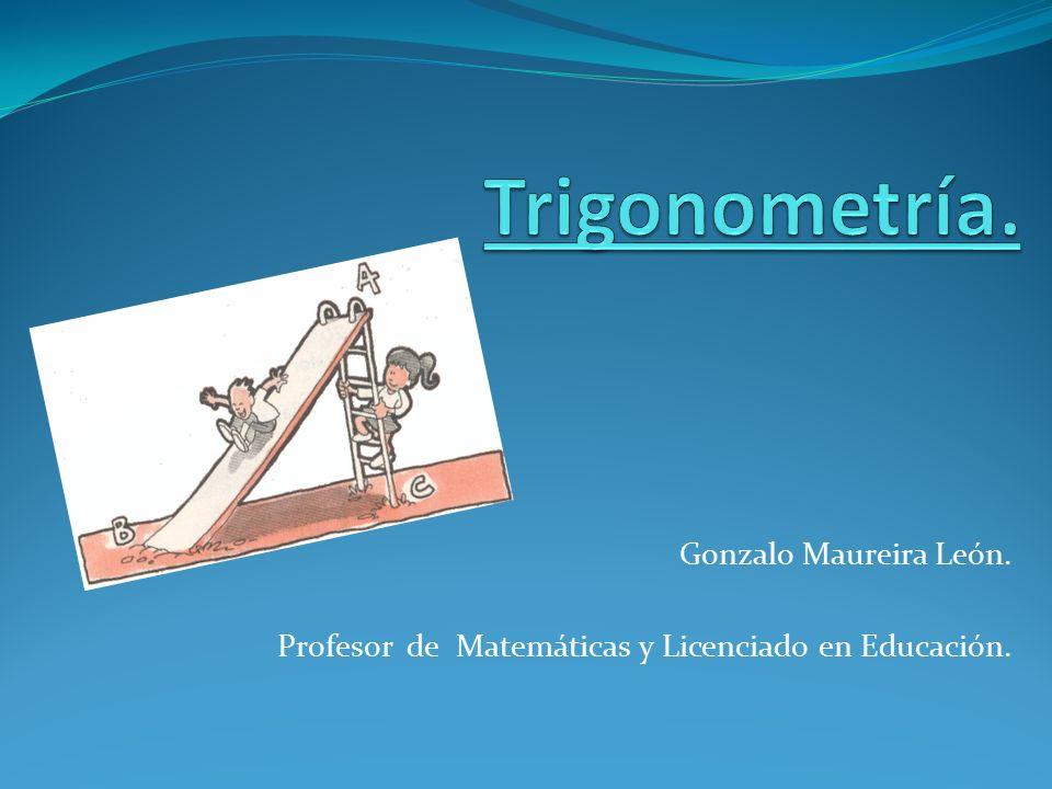 Gonzalo Maureira León. Profesor de Matemáticas y Licenciado en Educación.