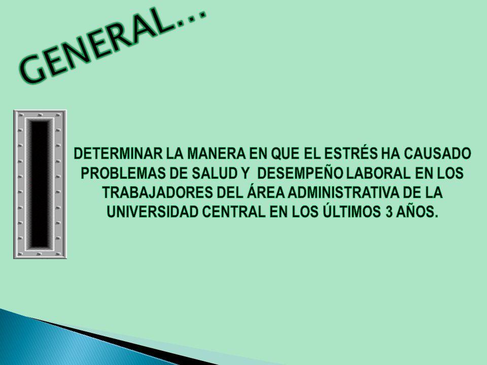 TRABAJADORES DEL ÁREA ADMINISTRATIVA GRUPO DE TRABAJO VARIOS EN LA UNIVERSIDAD CENTRAL DESENCAJAR