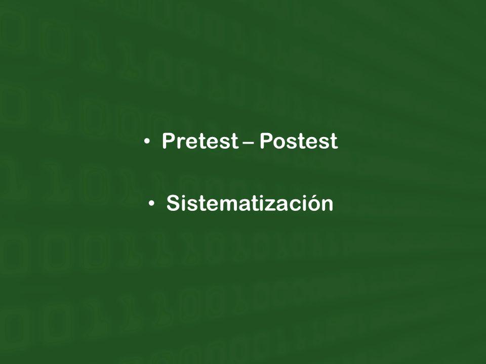 Pretest – Postest Sistematización