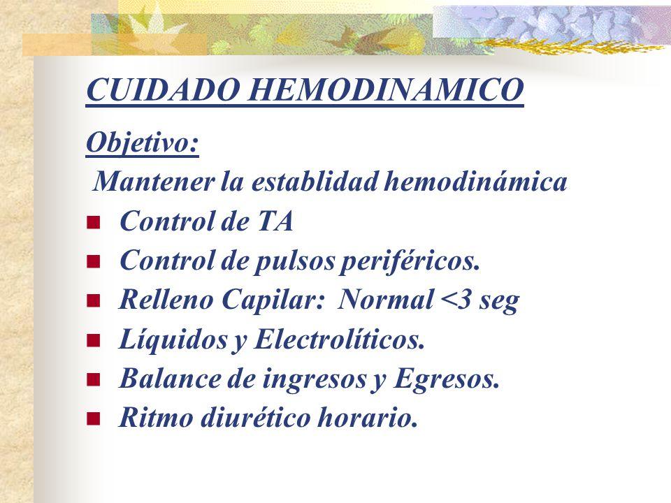 CUIDADO RESPIRATORIO Objetivo: Mejorar el intercambio gaseoso Colocar al paciente en decúbito prono, aún si tiene catéteres umbilicales.