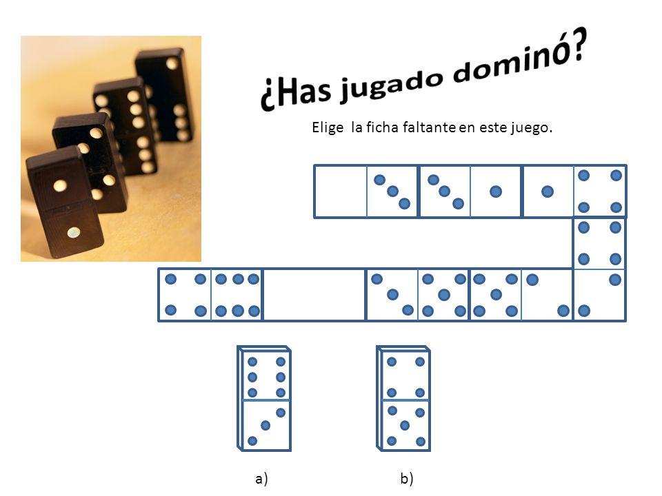 a)b) Elige la ficha faltante en este juego.