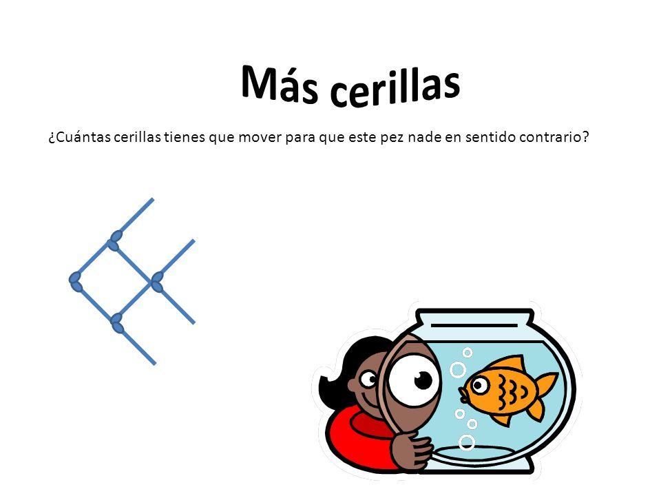 ¿Cuántas cerillas tienes que mover para que este pez nade en sentido contrario?