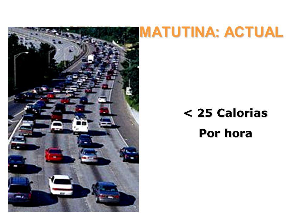 ACTIVIDAD MATUTINA: ACTUAL < 25 Calorias Por hora