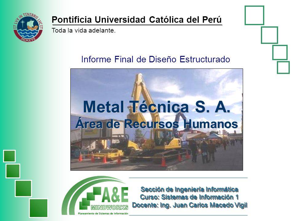 A&E Mindworks 2 Miercoles 22 de junio de 2005 Presentación de la empresa Metal Técnica S.A.